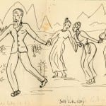 18/103 - Drawings from the tour round the world in 1936