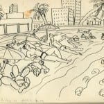 35/103 - Drawings from the tour round the world in 1936