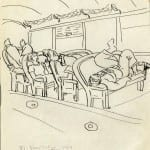 44/103 - Drawings from the tour round the world in 1936
