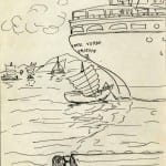 65/103 - Drawings from the tour round the world in 1936