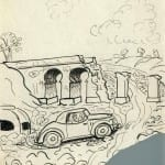 77/103 - Drawings from the tour round the world in 1936