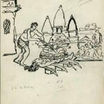 92/103 - Drawings from the tour round the world in 1936