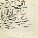 96/103 - Drawings from the tour round the world in 1936