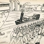 100/103 - Drawings from the tour round the world in 1936